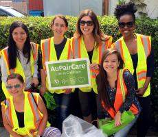 Au Pairs support their San Carlos CA Community